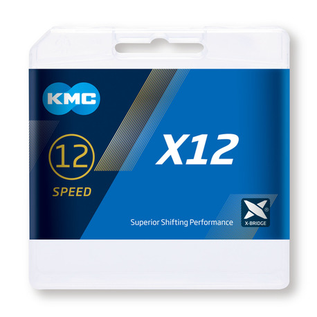Cadena Kmc X12 plata/negro 126p 12v
