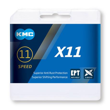 Cadena Kmc X11 plata/negra 118p 11v