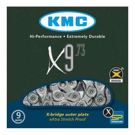 Cadena Kmc X9 gris 114 index 9v